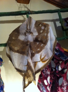 sciarpa in feltro, seta e lana