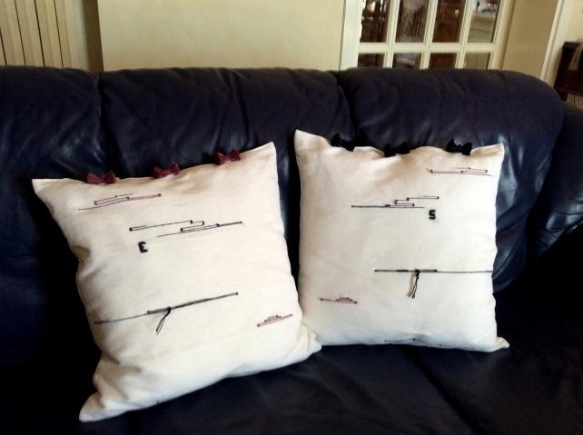 cuscini lino e seta