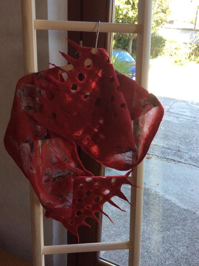 sciarpa nuno feltro rossa