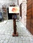 lampada in legno e nuno feltro